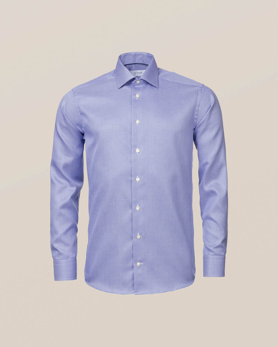 Mid Blue Patterned Twill Shirt - image 10