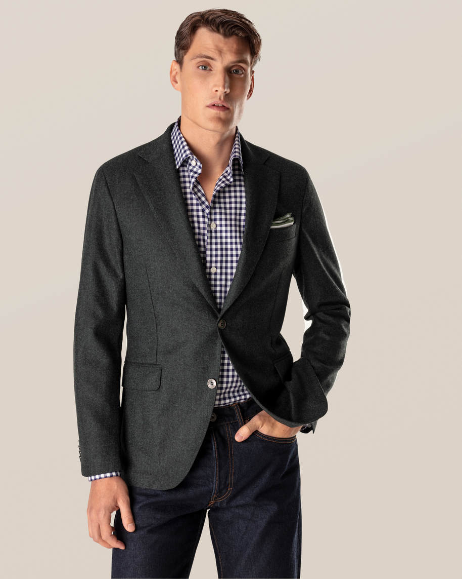 Dark Blue Gingham Shirt - image 10