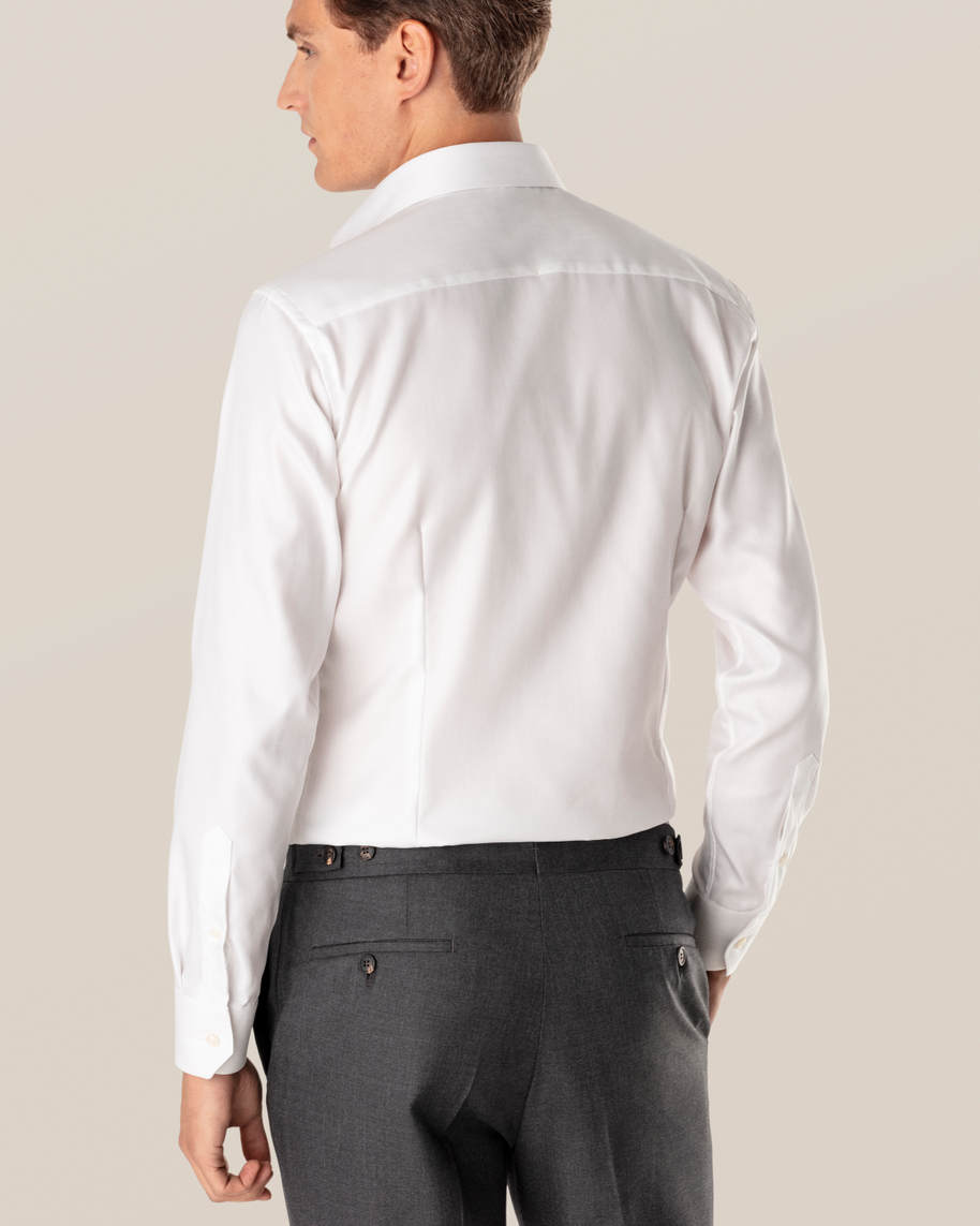 White Herringbone Twill Shirt - image 7