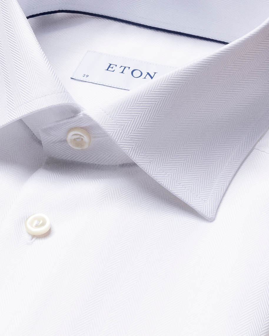 White Herringbone Twill Shirt - image 4