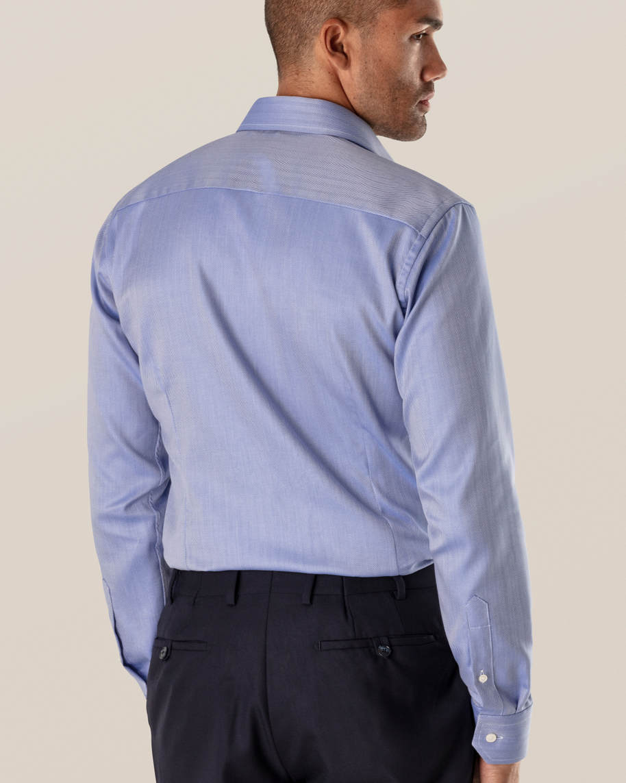 Mid Blue Herringbone Twill Shirt - image 6