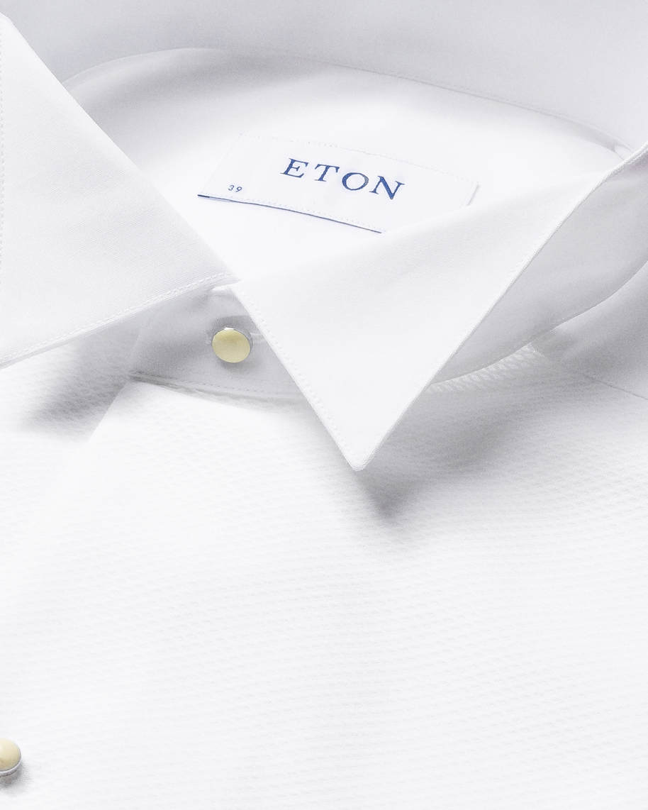 White Piqué White Tie Shirt