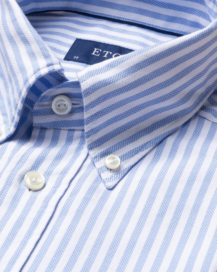Light Blue Striped Royal Oxford Shirt