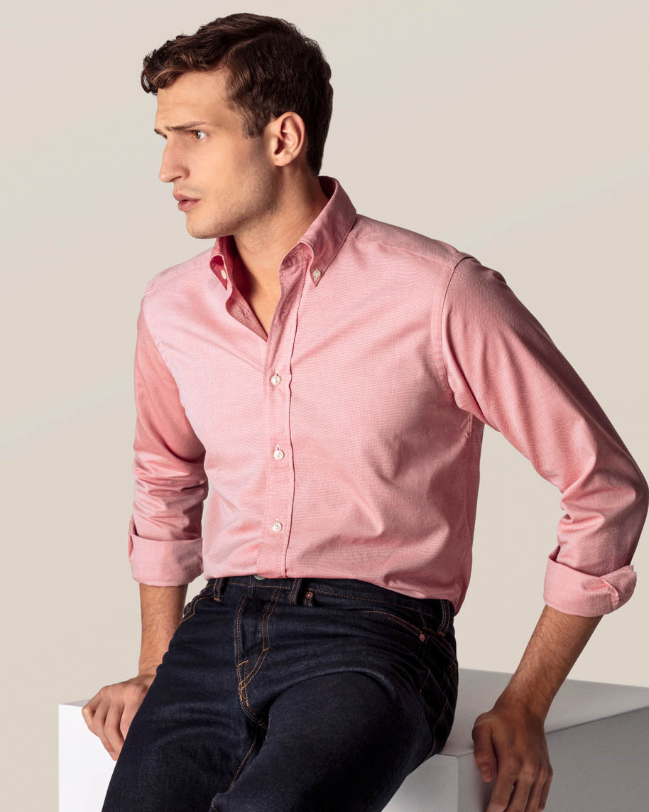 Red Oxford Shirt - image 9