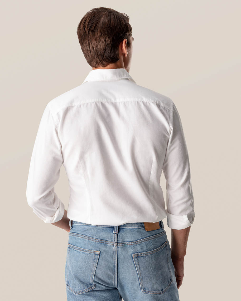 White Cotton and Silk Shirt - image 5