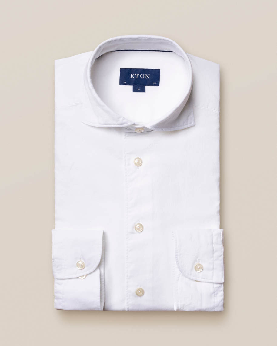 White Cotton and Silk Shirt - image 2