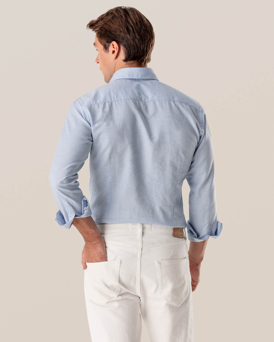 Light Blue Cotton and Silk Shirt - image 6