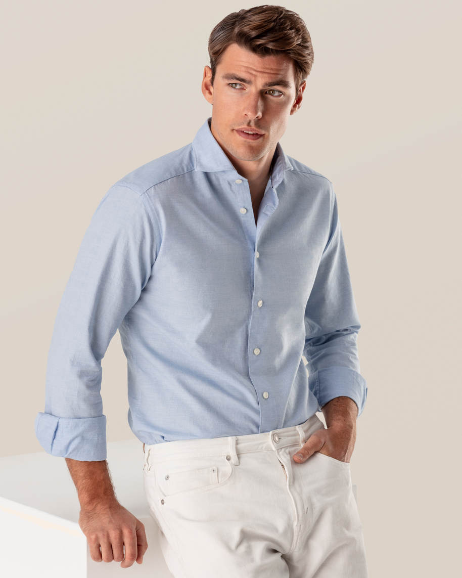 Light Blue Cotton and Silk Shirt - image 1