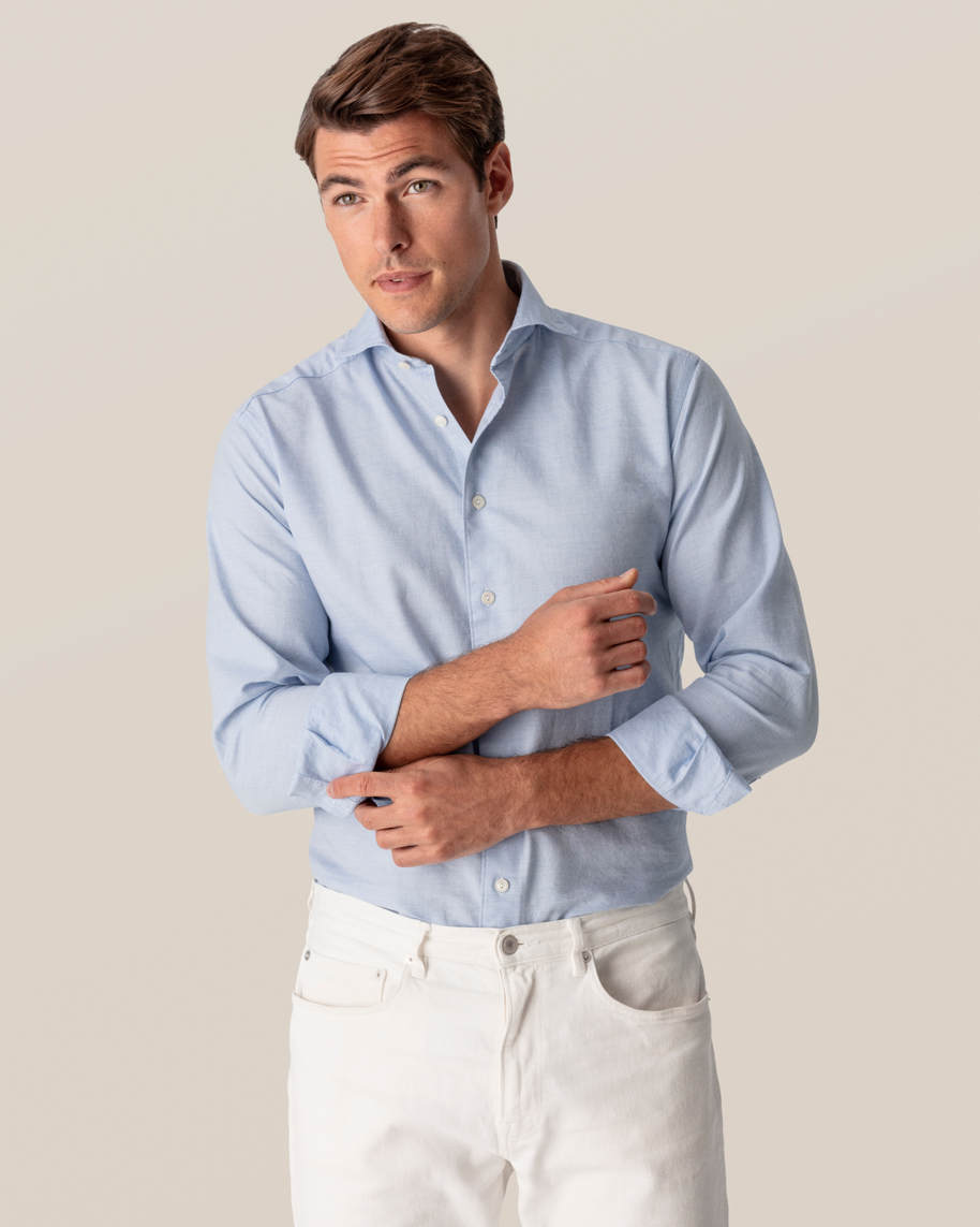 Light Blue Cotton and Silk Shirt - image 8