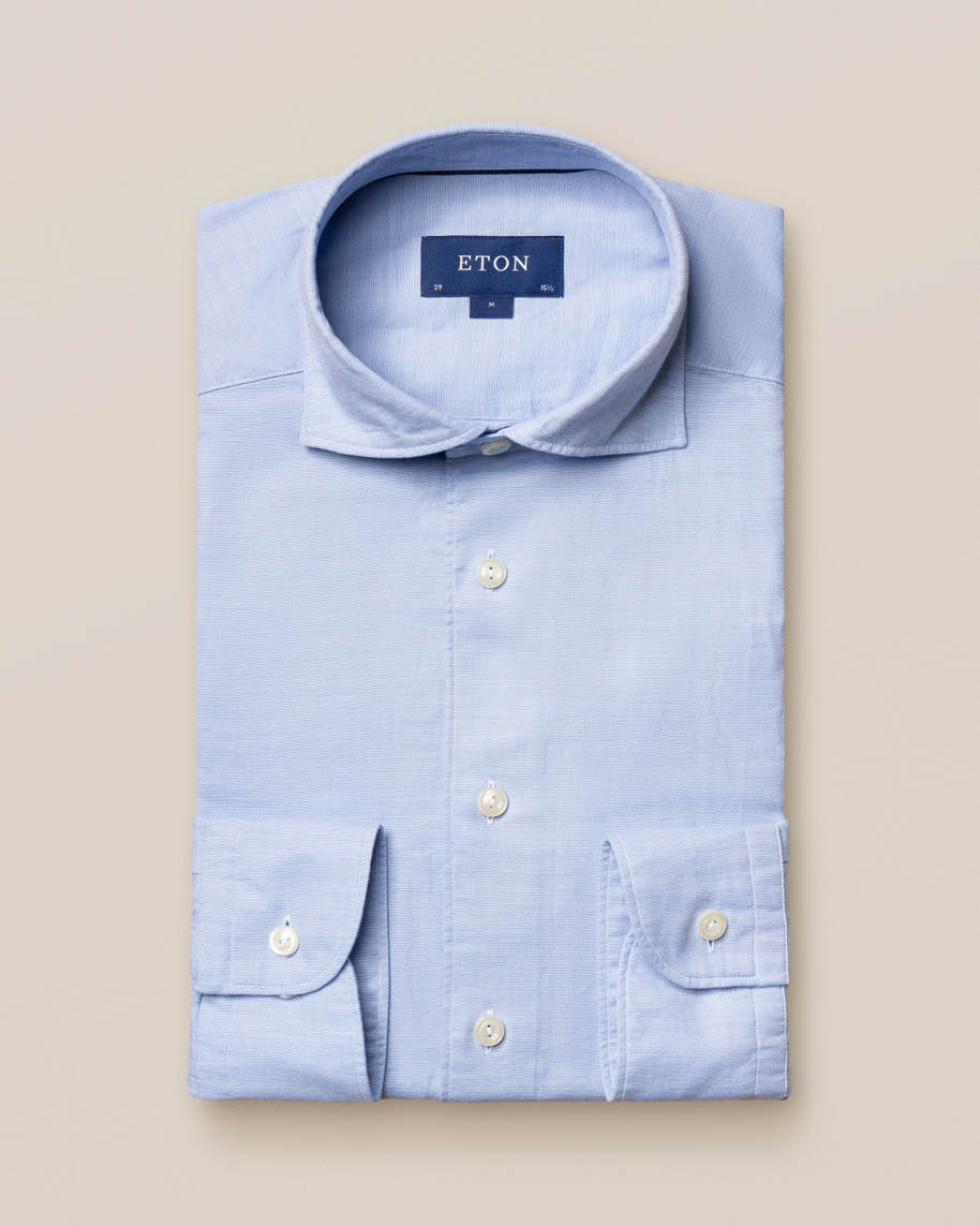 Light Blue Cotton and Silk Shirt - image 2