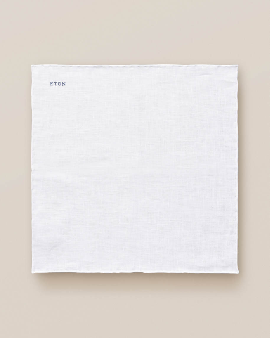 White Linen Pocket Square - image 3