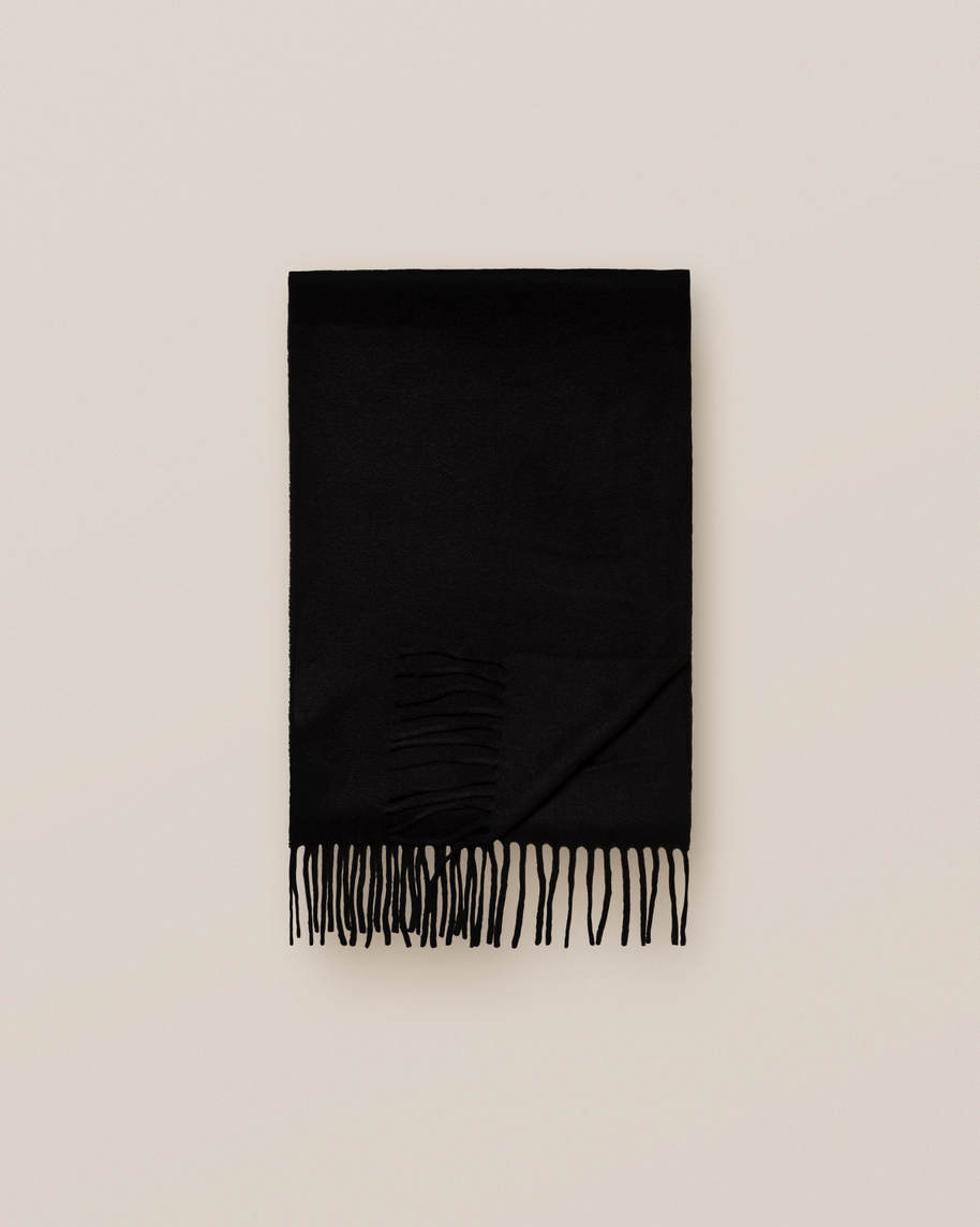 Black Cahsmere Scarf - image 2