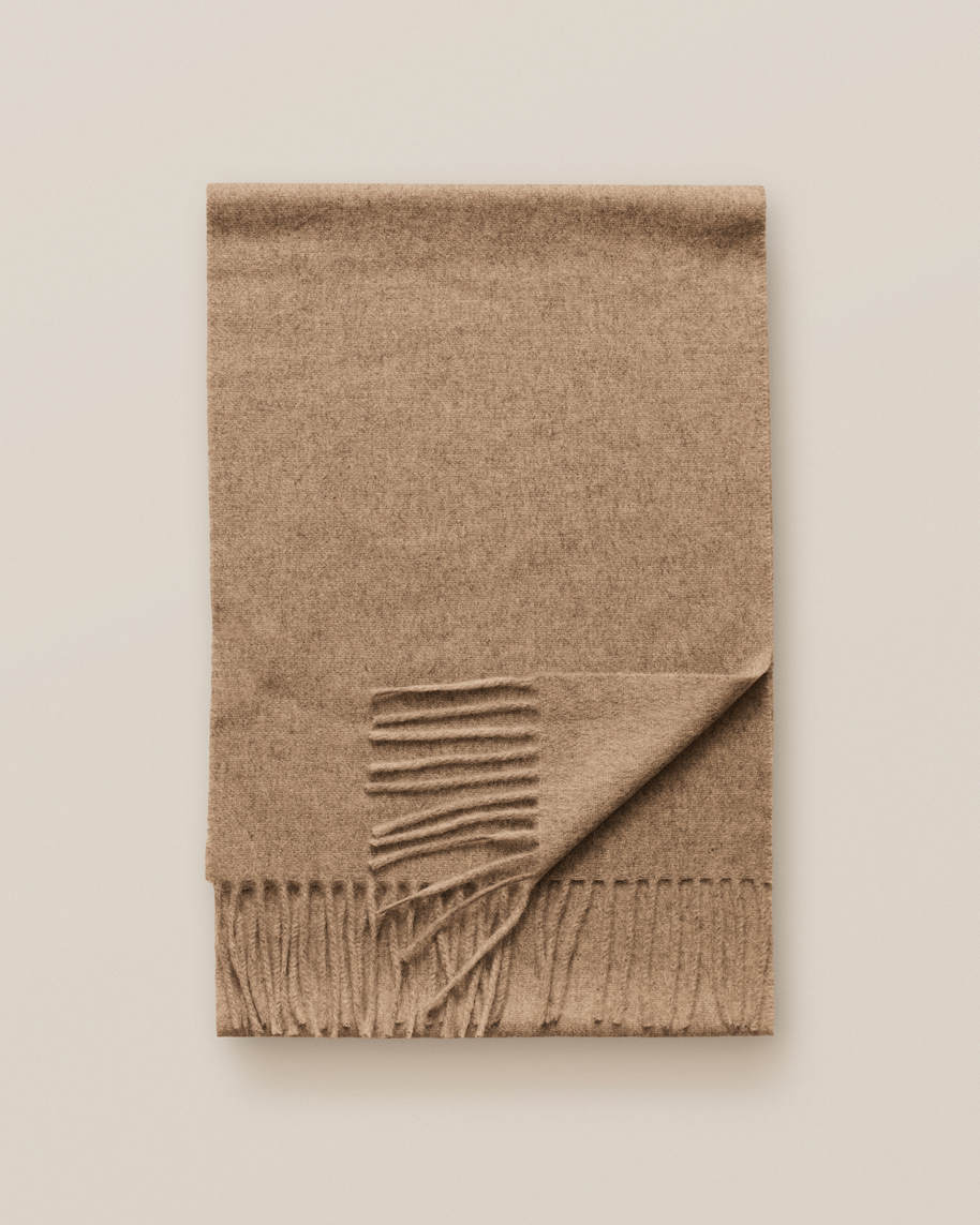 Beige Cahsmere Scarf - image 3