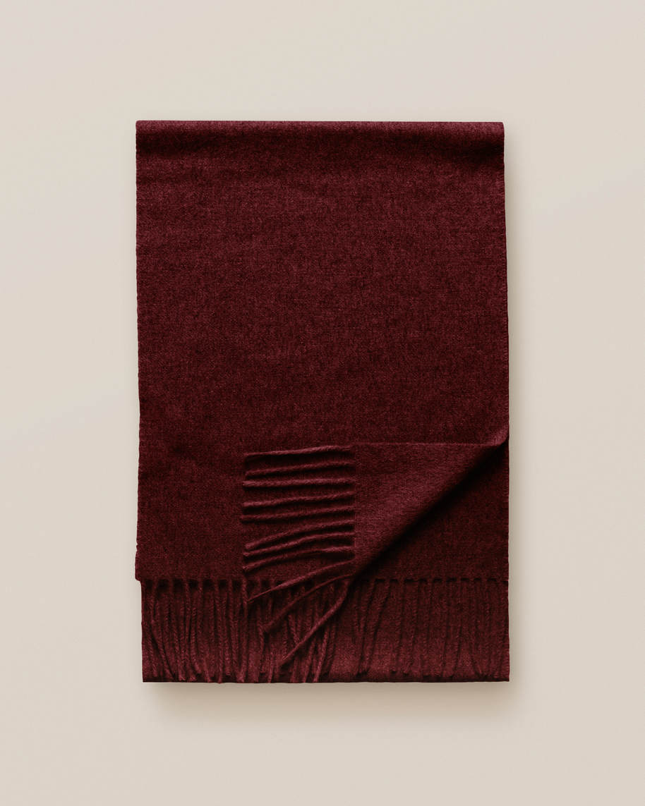 Red Cashmere Scarf - image 2