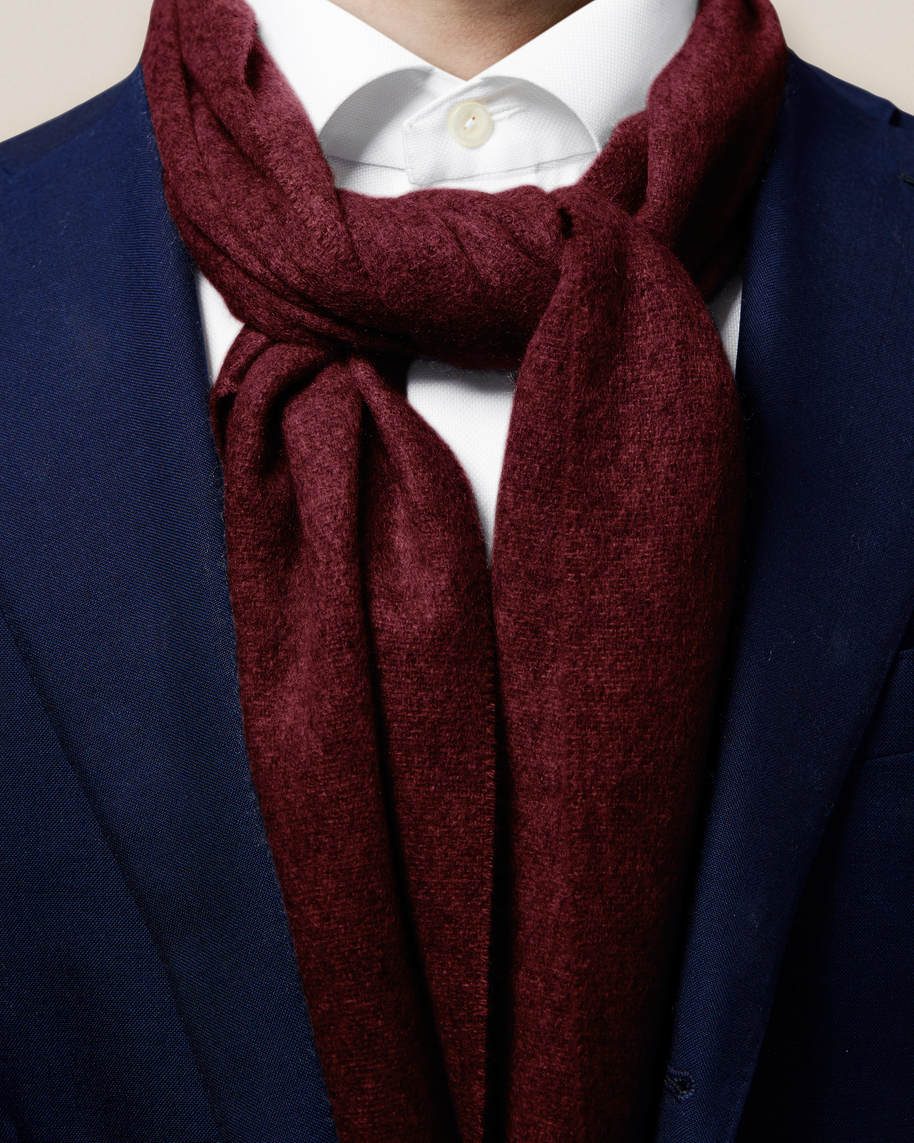 Red Cashmere Scarf - image 3