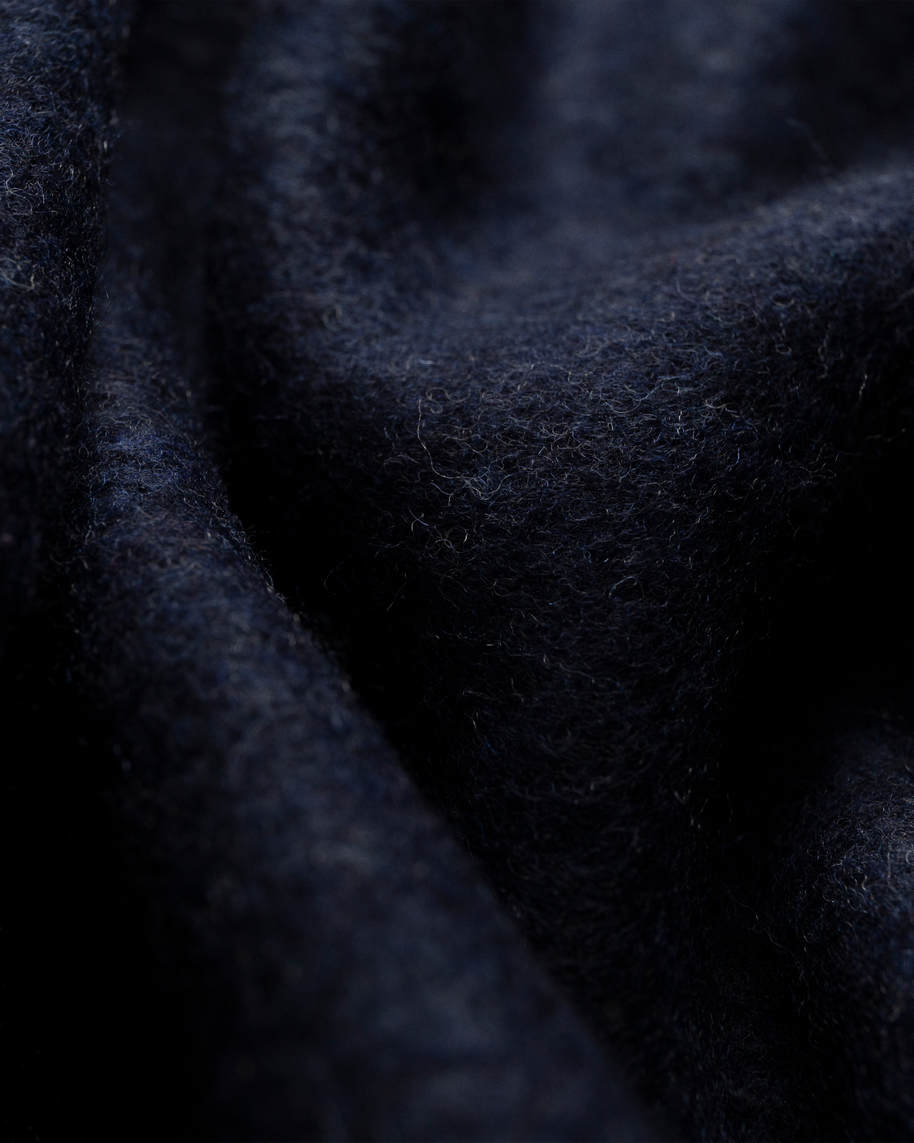 Midnight blue wool scarf