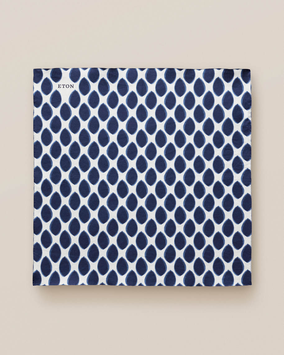 Dotted cotton pocket square - image 2