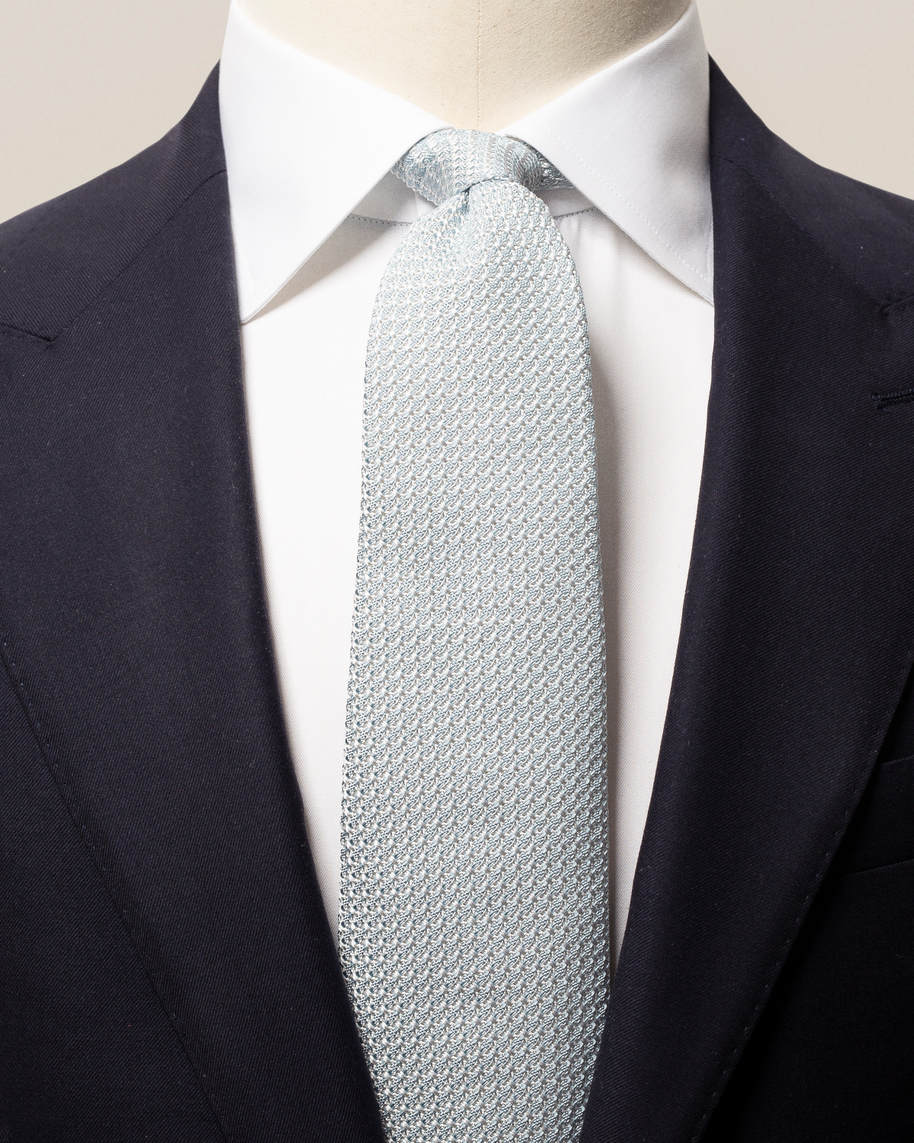 Sorbet lightblue hand-made grenadine tie