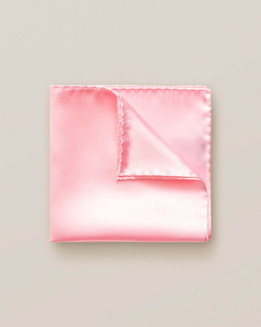 Pink lemonade silk pocket square