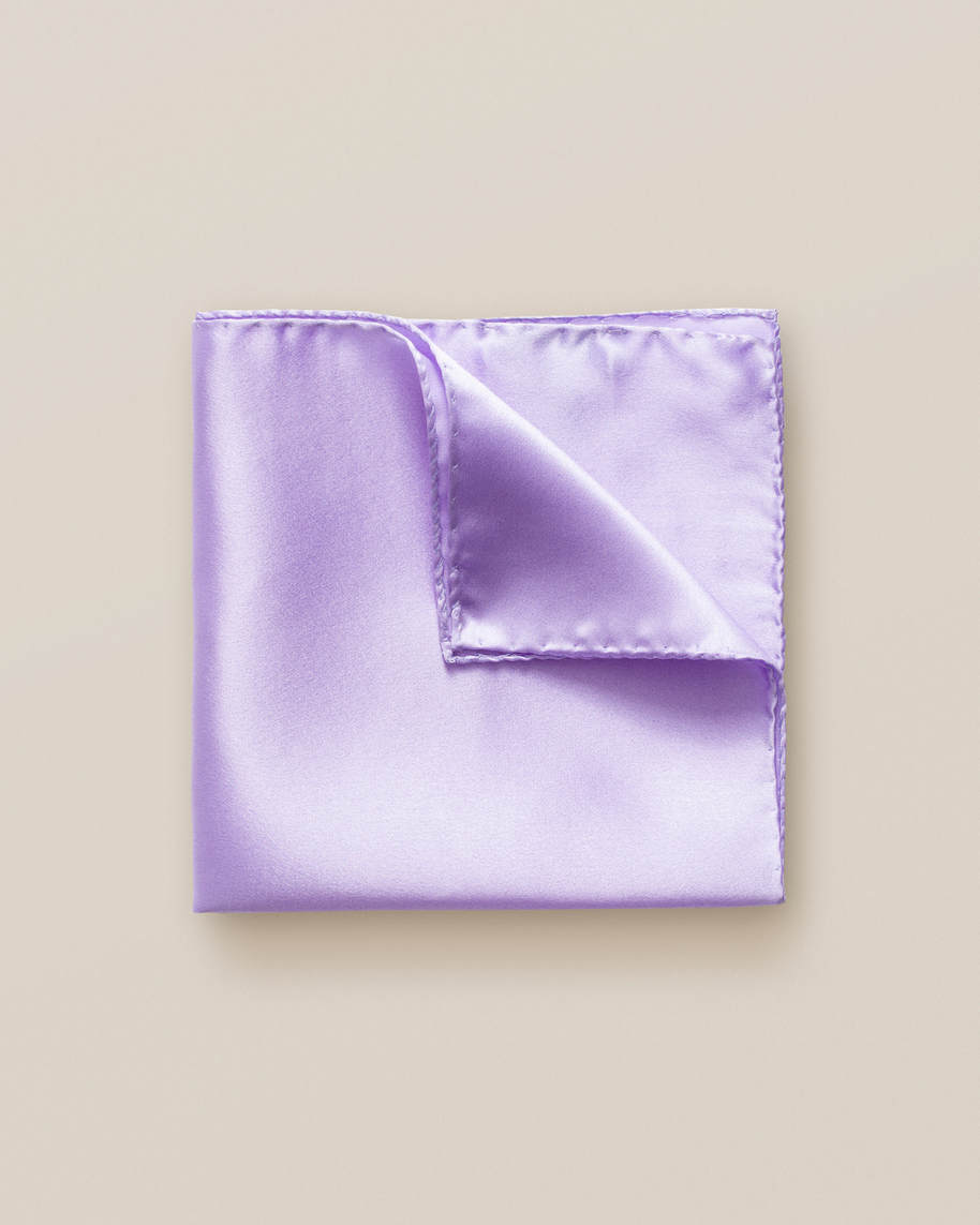 Lavender silk pocket square