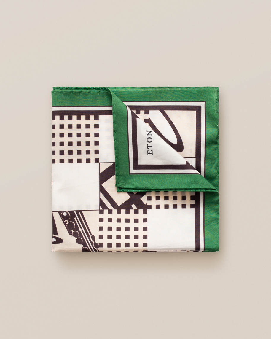 Green jazz pocket square - image 1