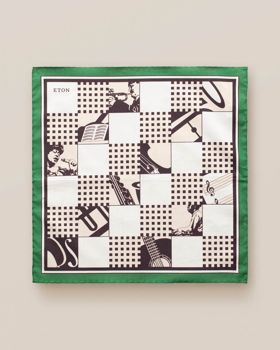 Green jazz pocket square - image 2
