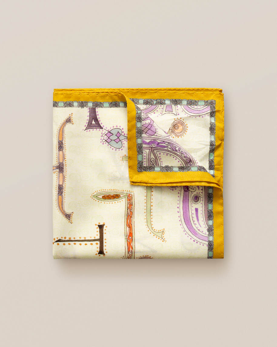 Yellow Eton jazz pocket square