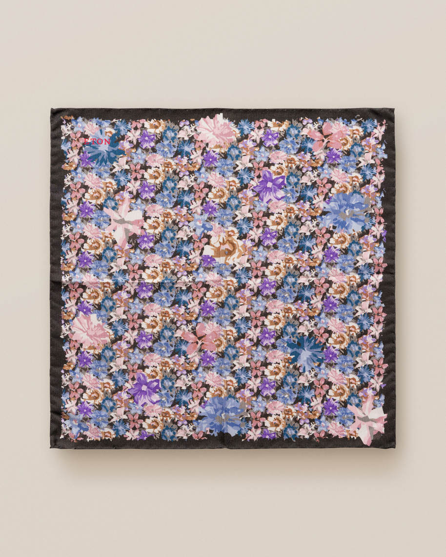Blue & Purple Floral Pocket Square