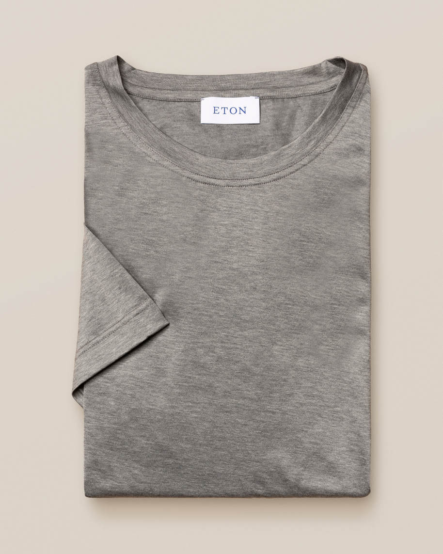Grey Filo di Scozia Cotton T-Shirt - image 4
