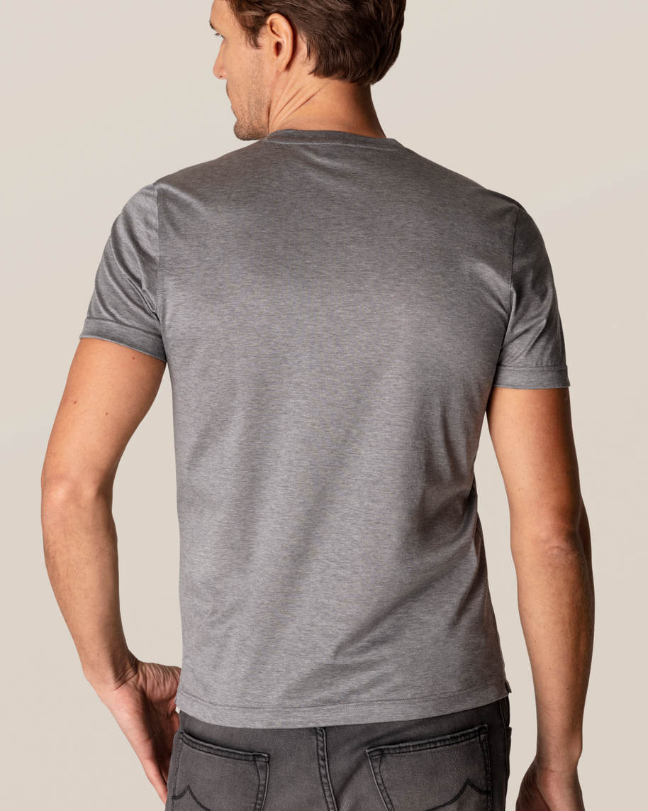 Grey Filo di Scozia Cotton T-Shirt - image 9