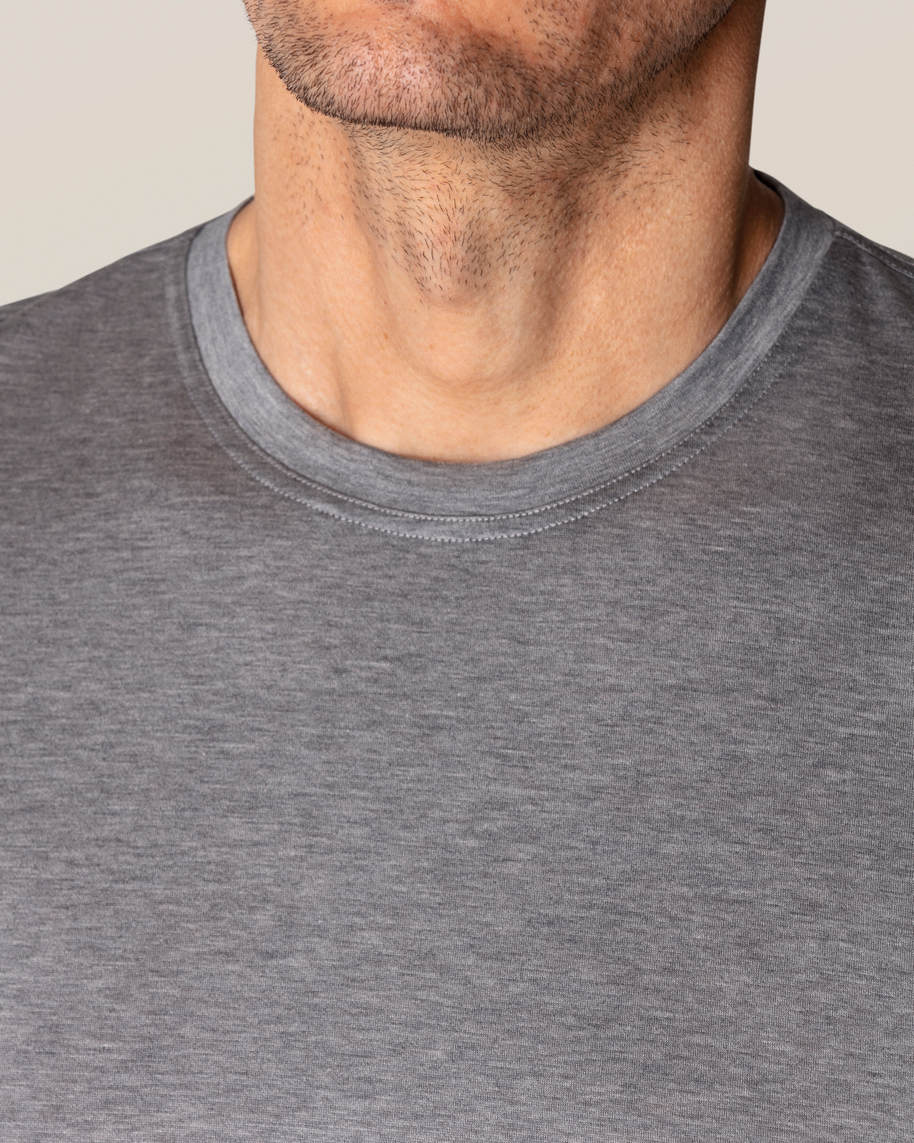 Grey Filo di Scozia Cotton T-Shirt - image 7