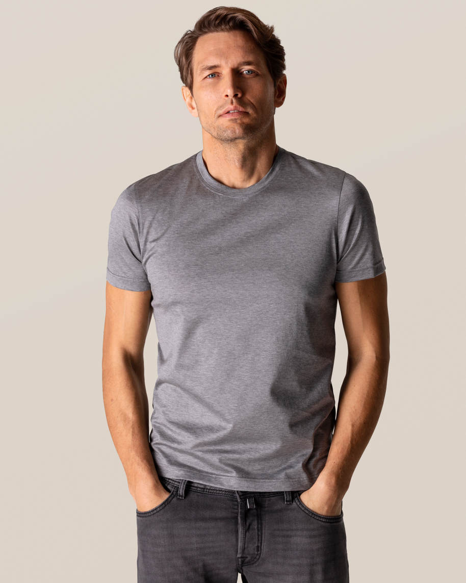 Grey Filo di Scozia Cotton T-Shirt - image 10