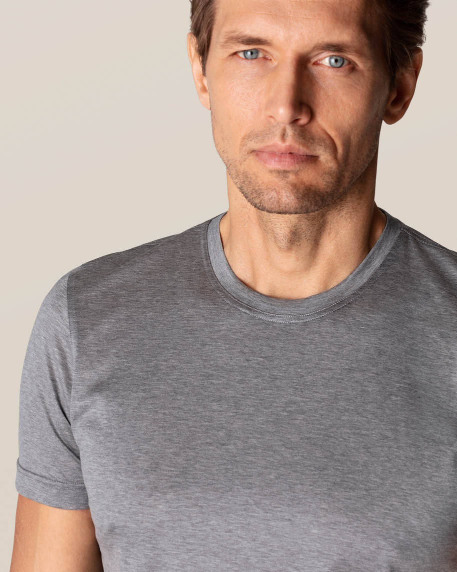 Grey Filo di Scozia Cotton T-Shirt - image 17