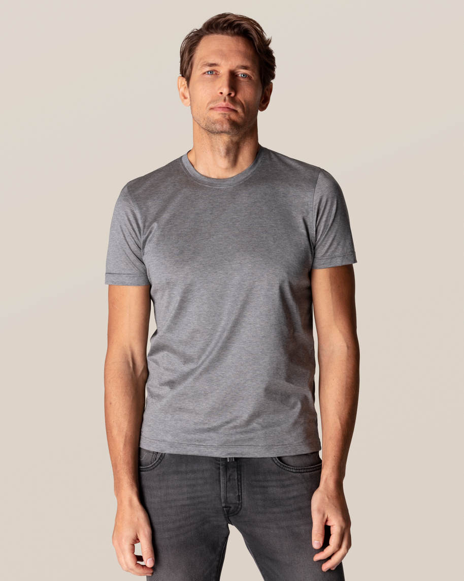 Grey Filo di Scozia Cotton T-Shirt - image 1