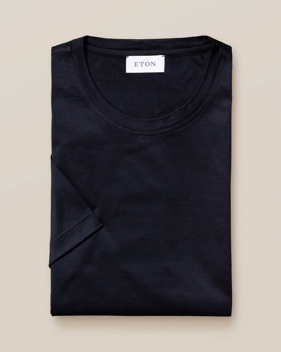 Dark navy Filo di Scozia Cotton T-Shirt