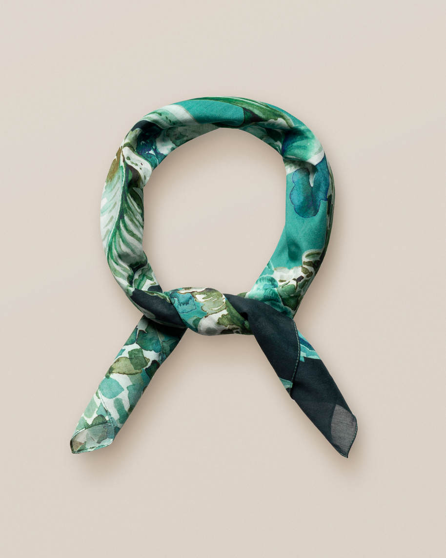 Green Chandelier Print Cotton-silk Bandana