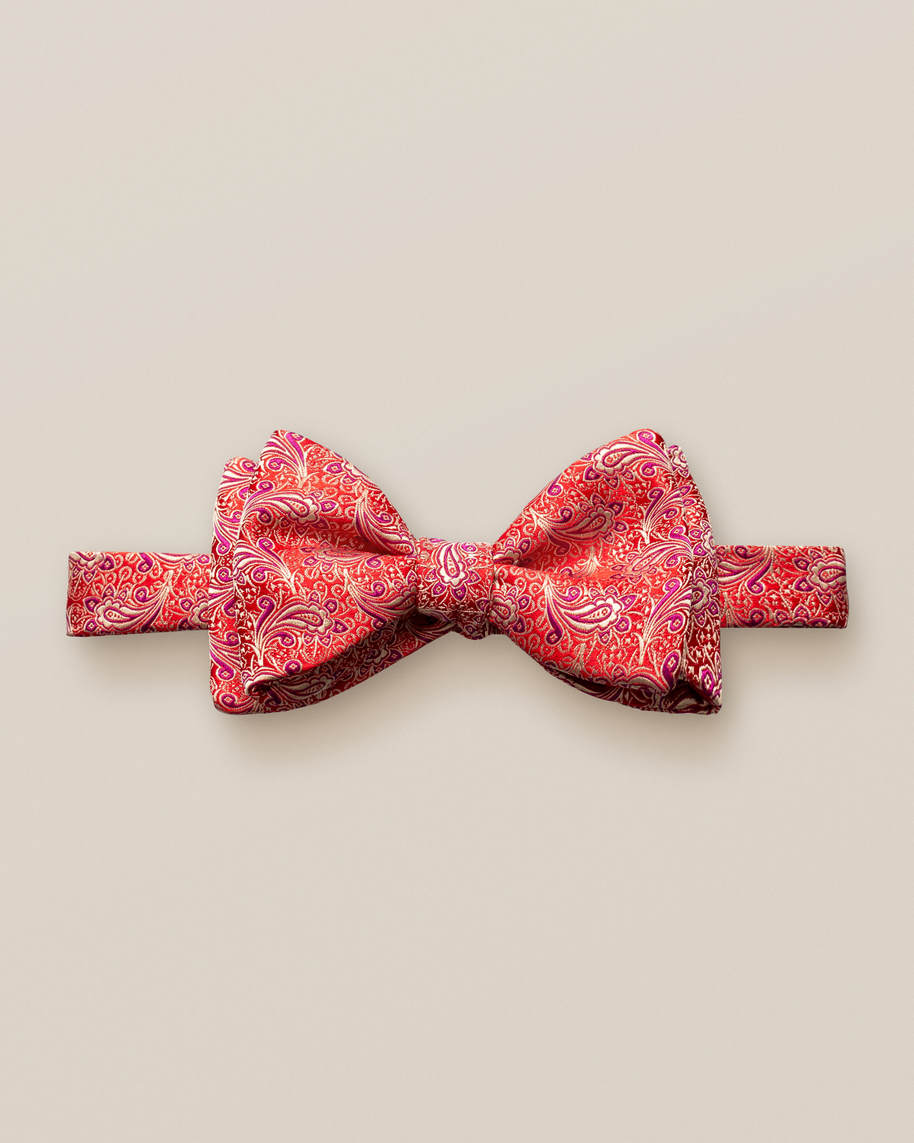 Burgundy Lustrous Silk Bow Tie – Self Tied