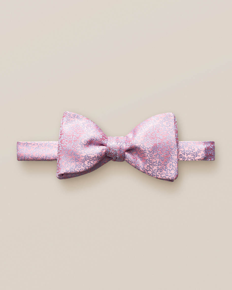 Red Lustrous Silk Bow Tie – Self Tied