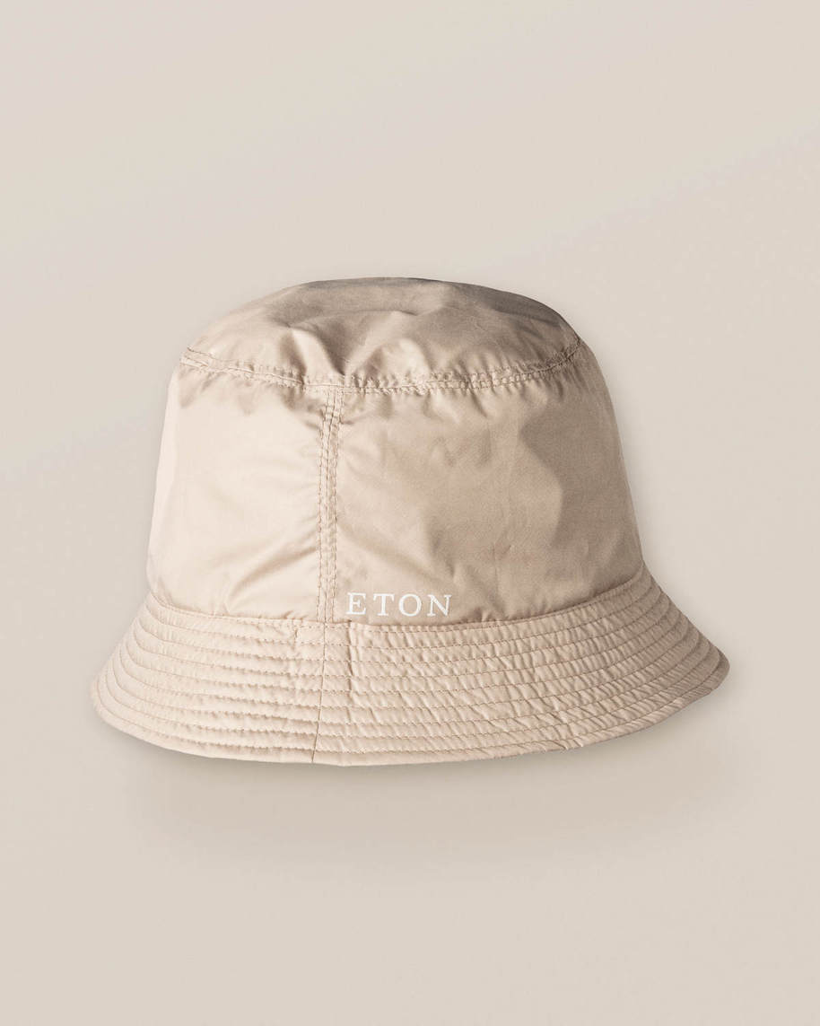 Wendbarer Bucket Hat in Beige/City-Print