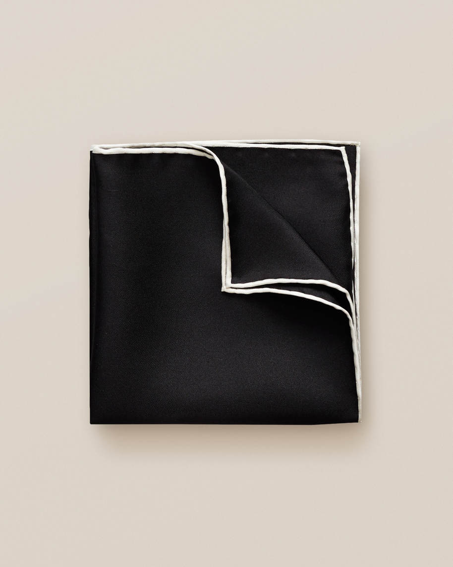 Black Square Pocket Square